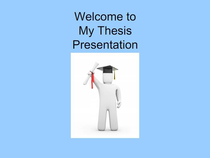 introduction in thesis presentation